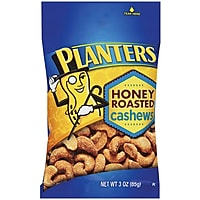 6-Pack Planters Cashews Honey Roasted Bags (3-Ounce)