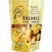 Go Naturally Organic Ginger Hard Candy, 3.5 oz. Bag, 12/Pack