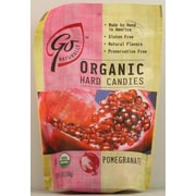 Go Naturally Organic Pomegranate Hard Candy, 3.5 oz. Bag, 12/Pack