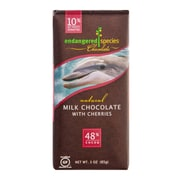 endangered species 3 oz. All-Natural 48% Cocoa Milk Chocolate With Cherries, Dolphin, 12/Pack