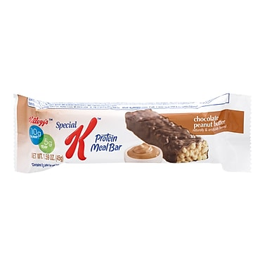 Kelloggs Special K Protein Chocolate Peanut Butter Meal Bars, 1.59 oz. Bars, 16/Pack