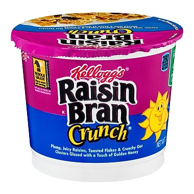 Kelloggs™ Raisin Bran Crunch® Cereal in a Cup, 28 oz. 6/Pack