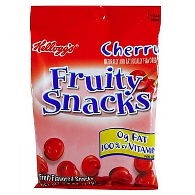 Kelloggs Cherry Fruity Snacks, 2.5 oz., 32/Pack