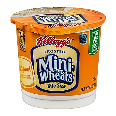 Kelloggs Bite Size Cereal/Frosted Mini Wheats In A Cup, 2.5 oz., 24/Pack