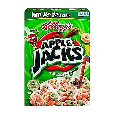 Kelloggs Apple Jacks Cereal, 8.7 oz., 6/Pack