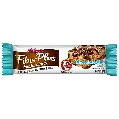 Kelloggs™ Fiber Plus® Antioxidants Chocolate Chip Bar, 1.2 oz. Bars, 6/Pack