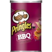 Pringles Potato Crisps, BBQ, 2.5 oz. Can, 24/Pack