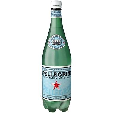 San Pellegrino Sparkling Mineral Water, 1 Liter Bottle, 24/Pack