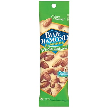 Blue Diamond Whole Natural Almonds, 1.5 oz. Bag, 24/Pack