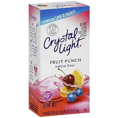 Crystal Light On The Go Fruit Punch Drink Mix, 0.17 oz., 3-30 Packs