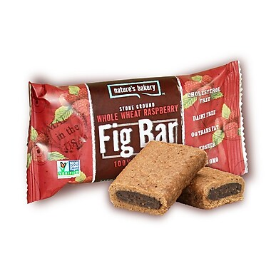 Nature s Bakery Whole Wheat Raspberry Fig Bar, 2 oz., 26/Pack