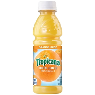 Tropicana Orange Juice, 10 oz. Plastic Bottle, 24/Carton, 24/Pack