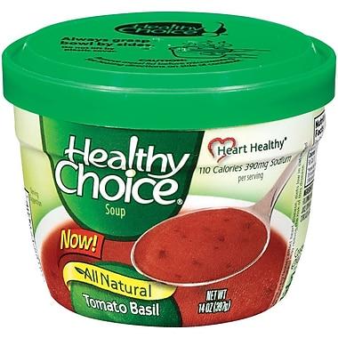 Healthy choice Microwable Bowl Tomato Basil Soup, 14 oz., 8/Pack