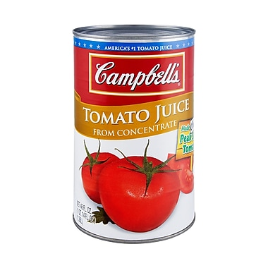 Campbells Tomato Juice, 46 oz. Can, 12/Pack