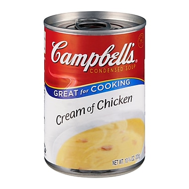 Campbells Condensed Cream Of Chicken Soup, 10 oz. Can, 16/Pack