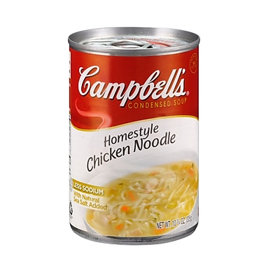 Campbells Condensed Homestyle Chicken Noodle Soup, 10.75 oz. Can, 12/Pack