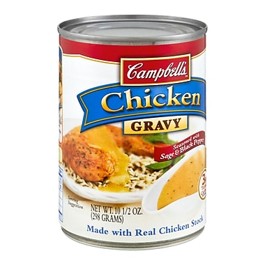 Campbells Gravy Chicken, 10.5 oz. Can, 16/Pack