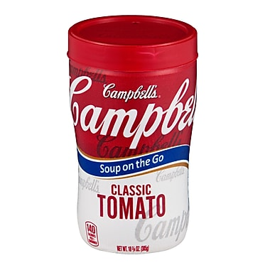 Campbells Soup at Hand Classic Tomato Soup, 10 oz., 8/Pack