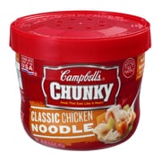 Campbells Chunky Classic Chicken Noodle Soup, 15.5 oz., 8/Pack