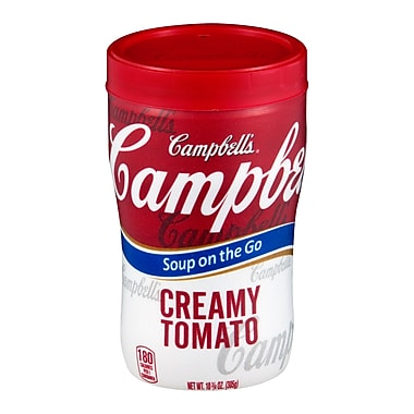 Campbells Soup at Hand Creamy Tomato Soup, 10.75 oz., 12/Pack