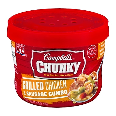 Campbells Chunky Grilled Chicken With Sausage Gumbo, 15.25 oz., 6/Pack