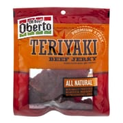 Oberto All Natural Teriyaki Beef Jerky, 3.25 oz. 4/Pack