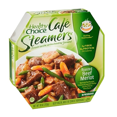 Healthy choice Cafe Steamers Roasted Beef Merlot, 10 oz., 8/Pack