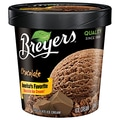 Breyers Chocolate All Natural Ice Cream, 1 Pint, 8/Pack