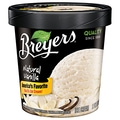 Breyers Vanilla All Natural Ice Cream, 1 Pint, 8/Pack