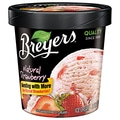 Breyers Strawberry All Natural Ice Cream, 1 Pint, 8/Pack