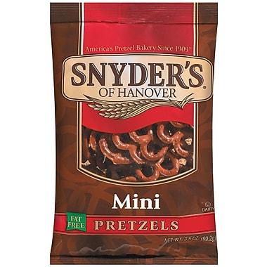 Snyder s of Hanover Mini Pretzels, 3.5 oz., 32/Pack