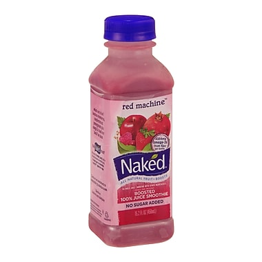 Naked All Natural Smoothie Juice, Red Machine, 15.2 oz. Plastic Bottle, 8/Pack