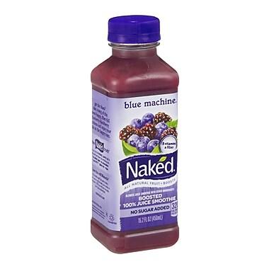 Naked All Natural Smoothie Juice, Blue Machine, 15.2 oz. Plastic Bottle, 8/Pack