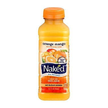 Naked® All Natural Smoothie Juice, Orange Mango, 15.2 oz. Plastic Bottle, 8/Pack