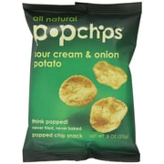 popchips Potato Chips, Sour Cream & Onion, 0.8 oz., 32/Pack