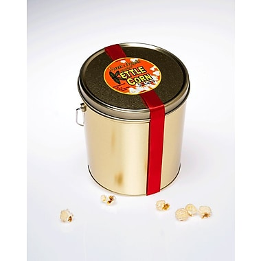 Sweet Angels Gourmet All Natural And Gluten Free Kettle Corn, 1 gal Gift Tin, 8/Pack