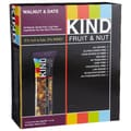 KIND Walnut/Date Fruit and Nut Bars, 1.4 oz. Bars, 24/Pack
