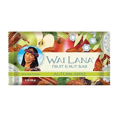 Wai Lana Autumn Apple Fruit and Nut Bars, 2 oz. Bars, 12/Pack