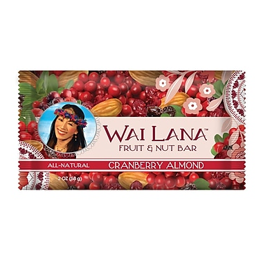 Wai Lana™ Cranberry Almond Fruit and Nut Bars, 2 oz. Bars, 12/Pack