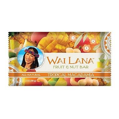 Wai Lana Tropical Macadamia Fruit and Nut Bars, 2 oz. Bars, 12/Pack