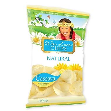 Wai Lana Cassava Chips, Zero Trans Fat & GLUTEN FREE Natural, 3 oz., 12/Pack
