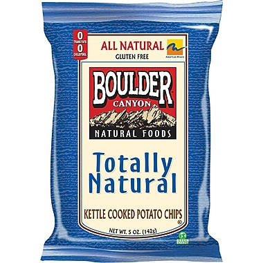 Boulder Canyon Kettle Cooked Totally Natural Potato Chips, 5 oz., 12/Pack