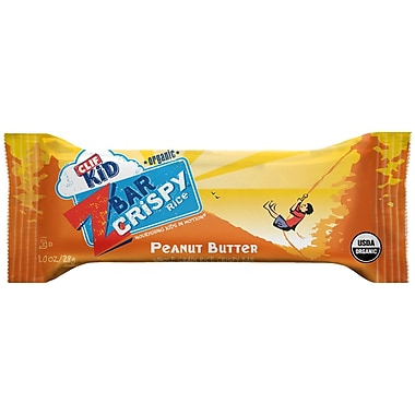 Clif Kid Organic Crispy Rice Peanut Butter, 1 oz. Bars, 36/Pack