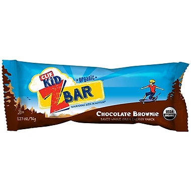 Clif Kid® Organic Chocolate Brownie Bars, 1.27 oz. Bars, 36/Pack