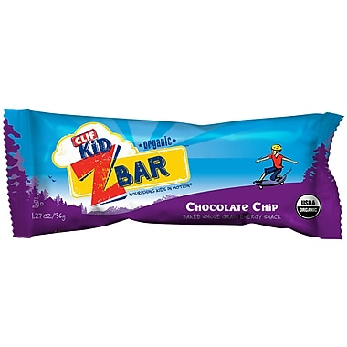 Clif Kid Organic Chocolate Chip, 1.27 oz. Bars, 36/Pack