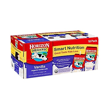 Horizon Organic Vanilla Milk, 8 oz. Box, 18/Pack
