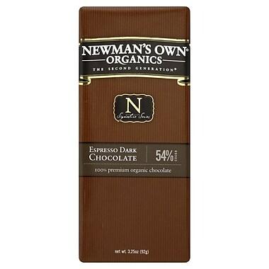 Newmans Own Organic Espresso Dark Chocolate Bars, 3.25 oz. Bars, 12/Pack