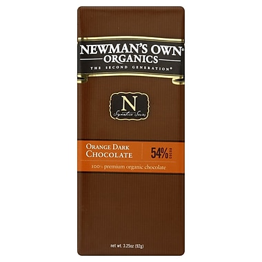 Newmans Own Orange Dark Chocolate Bars, 3.25 oz. Bars, 12/Pack