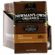 Newmans Own Premium Milk Chocolate Bars, 3.25 oz. Bars, 12/Pack