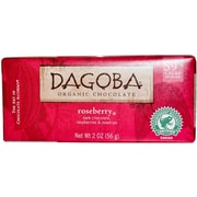 Dagoba Roseberry Dark chocolate Bars, 2 oz. Bars, 12/Pack